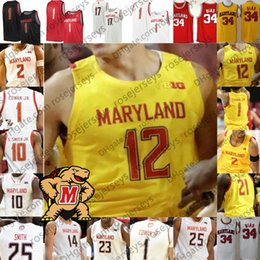Basketball 34 gelbe trikot online-2019 Terps Maryland # 23 Bruno Fernando 34 Len Bias 4 Kevin Huerter 32 Joe Smith Rot Weiß Gelb 100. Retro College Basketball Jersey
