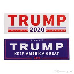 emblema camry Desconto NOVO 2 Estilos Donald Trump 2020 Adesivos de Carro Bumper adesivo de parede Manter Fazer a América Grande Decalque para o Estilo Do Carro Paster Veículo DHL