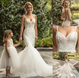 657418b430d6 Naama & Anat 2019 Wedding Dresses Spaghetti Lace Appliqued Sleeveless  Mermaid Wedding Dress Sexy Backless Bridal Gowns vestidos de novia