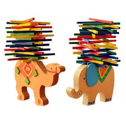 bâtons de jouets de puzzle Promotion Bois Couleur Bâton Balance Poutre Enfants Mains Puzzle Puzzle Jeu Éléphant Balance Bâton Jouet Éducatif Cadeau