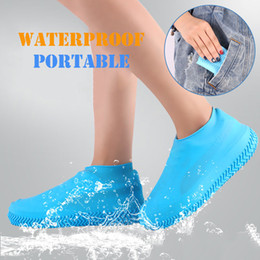 Calzado cubre calcetines online-Protectores de botas de silicona y botas de silicona reutilizables Protectores impermeables de goma de silicona para interiores y exteriores