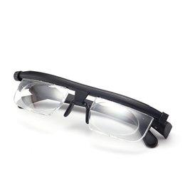 2019 3d linse Vision Focus Justierbare Lesebrille Myopie Brillen -6D bis + 3D-Korrekturlinse für Binokularlupe Vergrößerungsporta Oculos TTA67 günstig 3d linse