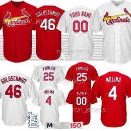 2019 yadier molina jersey 4 Yadier Molina 46 Paul Goldschmidt Jersey Baseball-Shirts für Männer 1 Ozzie Smith 25 Dexter Fowler St. Louis Kardinal 150. günstig yadier molina jersey