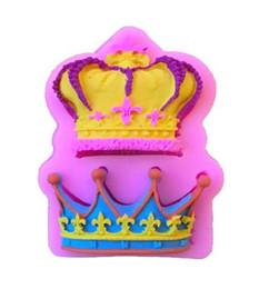 Corone decorare online-Hot Bar Dining Crowns da Princess Queen 3D Stampo in silicone Fondente Cake Cupcake Strumenti di decorazione Clay Resin Candy Fimo Super Sculpey