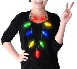 conduit ampoule collier Promotion Cadeau du Nouvel An Noël LED collier émetteur de lumière collier ampoule fête pour adultes ou enfants comme cadeau du Nouvel An