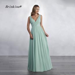 bling knielänge brautkleider Rabatt Brinkina Brautjungfernkleid 2019 Kristall Lange Chiffon Brautjungfernkleider Günstige Vestido De Madrinha Longo Brautkleider
