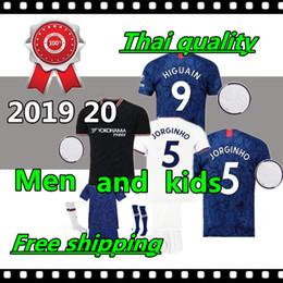 Kostenloser versandkit online-Thailand 19 20 GEFAHR JORGINHO PULISIC Fußball Jersey Kind 2020 HIGUAIN GIROUD KANTE Fußball-Ausrüstungshemd Kinder geben Verschiffen frei