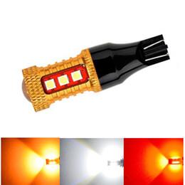 2Pcs T15 W16W 1000LM LED Ampoules 921 912 W16W Inverse De La Lumière De Sauvegarde De Voiture Lumières 15 SMD 3030 LED Blanc Rouge Jaune DC 12V ? partir de fabricateur