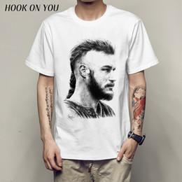 vikings t-shirt Promotion Ragnar Lothbrok Vikings Ragnar Lodbrok Pop Art Vikings T-shirt Top Hommes T Shirt Nouveau Design De Haute Qualité