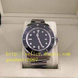 Fecha de los hombres Relojes deportivos Reloj de alta calidad Gran reloj Sea-Dweller dial de 44 mm Asia 2813 Movimiento Automático Cerámica Bisel Caja para hombre desde fabricantes