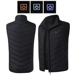 electric clothing Promo Codes - New Technology USB Electric Heated Vest Men&Women Heating Waistcoat Thermal Warm Clothing Feather Hot Sale Winter Heated Jacket