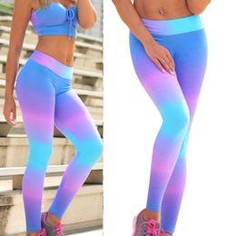 e0e98ecb7f52 rainbow leggings women Coupons - Fitness Sports Yoga Pants Leggings Printed  Rainbow Yoga Sweatpants Leggings for