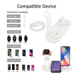 gerätestationen Rabatt 10W Wireless-Ladegerät 4 in 1 Wireless Charging Dock für Schnelladegerät für Uhr-Kopfhörer Ladestation Typ C für mehrere Geräte
