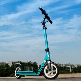 Roue à scooter électrique bleu en Ligne-Le scooter électrique se pliant 2 roule des scooters électriques le scooter de pied du pouce 250W 48V pour le blanc / bleu / jaune / rose adulte