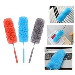 Limpieza de muebles de microfibra online-Condición ajustable Cepillo de polvo de microfibra Extender Estirar Plumero Aire acondicionado Muebles Limpieza del hogar Accesorios