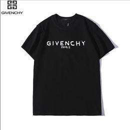 Argentina 2019 mujeres 100% carta de moda GIVE1NCHY algodón estampado camiseta transpirable o-cuello de la camiseta casual de la mujer tops camisetas Suministro