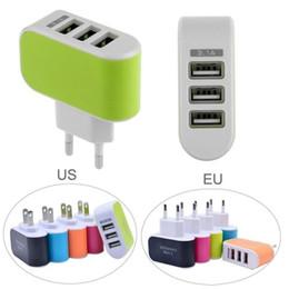 carregador soshine Desconto Adaptador universal do carregador da CA do curso da casa da parede do porto 3 do USB triplicar-se de 3.1A EUA / plugue da UE