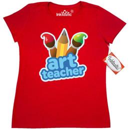 Canada Inktastic Mignon Art Enseignant T-shirt Femme Classe Artiste Peintre Pinceau CrayonHommes Femmes Unisexe De La Mode t-shirt Livraison Gratuite Offre