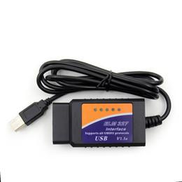 2019 obd2 usb elm327 El más nuevo ELM327 USB V1.5 OBD2 Escáner de diagnóstico para automóvil ELM 327 V 1.5 OBD 2 OBDII Interfaz basada en PC Auto-diagnóstico-Tool OBD-II Scan obd2 usb elm327 baratos