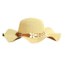 Signore all aperto in rame chiodo fiore corona decorativo ombra cappello  selvaggio spiaggia cappello di paglia casuale primavera ed estate visiera    60 ... 5044a94c04cc