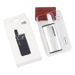 Deutschland Beste Rauchen Vapes H6 Mini Mod Kit vorwärmen Batterie VV Vaporizer Ecigarette 350mah Volt einstellbar .5ml Keramikzerstäuberpatronen cheap mini volt mod Versorgung