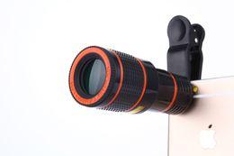 2020 lente de zoom 12x teléfono móvil Universal 12X Teléfono móvil Teleobjetivo Telescopio HD Lente de la cámara externa 12X Zoom Focus Lente del teléfono Fotografía Accesorios lente de zoom 12x teléfono móvil baratos