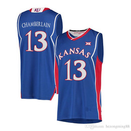 0 Frank MASON III  4 Devonte Graham 13 Wilt Chamberlain Kansas Jayhawks KU  Embroidery Stitched Basketball Jersey Custom any name and number 523038a09