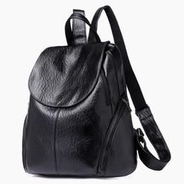 zaino coreano di svago di modo Sconti Fashion New Travel Zaino donne coreane Zaino per il tempo libero Studente borsa da scuola morbida in pelle PU borsa da donna