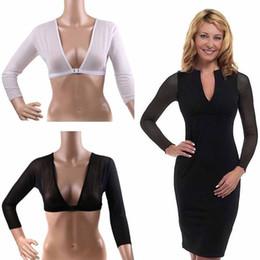 74e16b5746 2019 Amazing Arm Sleeve Shapewear Sexy Crop Tops Slimming Control Plus Size  Seamless Arm Shapewear Shaper Fashion Women Shapers