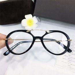lunettes à lunette ronde transparente Promotion Nouveau meilleur vente mode verres optiques rond cadre simple populaire cadre décontracté de style décontracté transparent cadre 5346