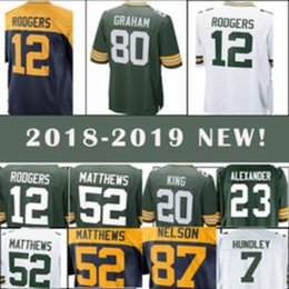 7c4632fa5 men 12 Aaron Rodgers Jersey Green Bays Packers 80 Jimmy Graham 23 Jaire  Alexander 37 Josh Jackson 4 Favre 17 Davante Adams 52 Matthews
