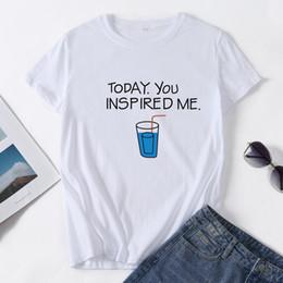 T-shirt in cotone stampa t-shirt in poliestere morbido cotone stampa donna primavera estate economici t-shirt in cotone stampa bianco tinta unita a buon mercato Ypf255 da magliette in puro poliestere fornitori