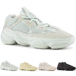 4f7fa96b3 Desert Rat 500 Zapatos para correr Supper Moon Amarillo negro Blush Salt  Diseñador de zapatos para mujer para hombre Zapatillas de deporte de cuero  5-11.5 ...