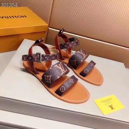 новый L женщины rea lLeather плоские сандалии плоские каблуки falt сандалии 35-41 тапочки слайд сандалии унисекс открытый пляж шлепанцы от