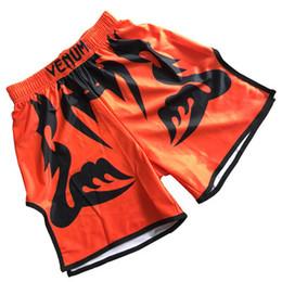 Xxxl mma шорты онлайн-Мужские боксерские штаны с печатью шорты MMA кикбоксинг бой борьба короткие тигр муай тай боксерские шорты одежда санда дешевые мма