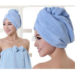 оптовые персы для волос Скидка Женщины Мягкие дышащие тюрбанские полотенца для волос Макияж Косметика Шапки Прочный абсорбент из микрофибры Quick Dry Wrap Шляпы Easy Clean BH1061 TQQ