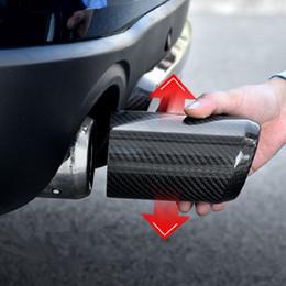 2019 enfriamiento del tubo de calor Tubo de la punta del silenciador trasero del escape del coche de la fibra de carbono real para Mini Cooper F54 F55 F56 F60 Accesorios de estilo
