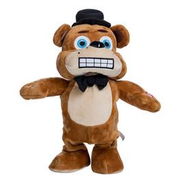 anime zorro de peluche Rebajas Anime FNAF Peluches Cinco noches en Freddy's Bear Freddy y Foxy El pirata Fox Animales de peluche caminando Cantando Fluffy Toys