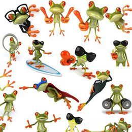 3d stickers frogs Promo Codes - 13X16CM Quality 3D PVC Car sticker Frog House lizar Print Motorcycle Car Emblem Badge Logo Decal Car Occlusion scratch Stickers QP020