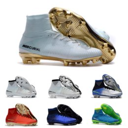 Canada Dropping Expédition Or Blanc CR7 Football Crampons Mercurial Superfly FG Champions Chaussures De Football En Intérieur Cristiano Ronaldo Pour Pas Cher cheap cheap white indoor soccer cleats Offre