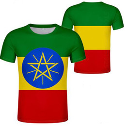 Y camisa online-ETIOPÍA camiseta diy nombre personalizado por encargo número et camiseta camiseta bandera nacional etíope amárico universidad impresión foto ropa