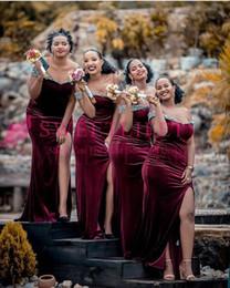 2019 Élégante Robe De Demoiselle D'honneur De Côté Marron Split De L'épaule Paillettes D'argent Demoiselle D'honneur De Mariage Robe Afrique Du Sud Style Weddin ? partir de fabricateur