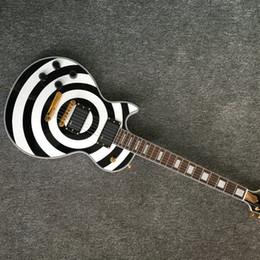 2019 guitarras emg em estoque Guitarra elétrica / NOVO Custom guitarra elétrica LP Zakk Wylde guitarra mão esquerda zakk guitarra Black EMG Pickups desconto guitarras emg