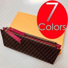 Tarjeta de crédito organizador billetera mujer online-ADELE WALLET M61269 Diseñador de moda para mujer con cremallera doble ADÈLE Organizador de lujo Monedero Monedero Titular de la tarjeta Mini Pochette Accesorios