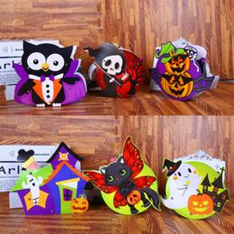 coleção de bolsas de festa Desconto Crianças DIY Bolsas de Abóbora de Halloween Sacos de Coleção de Doces de Papel Multistyles Saco de Armazenamento de Crianças Para Embrulho de Presente de Festa 1 2cy E1