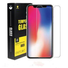 Para iPhone XS Max XR Cristal templado iPhone X 8 8 Plus Protector de pantalla Iphone 6 7Plus Film para Galaxy J3 Prime J7 Refinar con paquete al por menor desde fabricantes