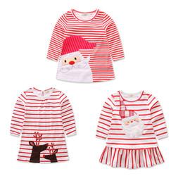Meninas do bebê de natal veados papai noel vestido dos desenhos animados Crianças tarja vestidos de princesa Xmas crianças traje C2573 de