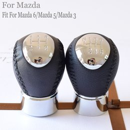 2019 lexus corolla Nuovo tipo 5 6 velocità della vettura in pelle Accessori Manuale leva del cambio shifter spostamento leva manopola testa per Mazda 6 / Mazda 5 / Mazda 3