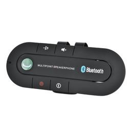 visierklammern für autos Rabatt Bluetooth Freisprecheinrichtung Car Kit Drahtloser Bluetooth Empfänger Freisprecheinrichtung MP3 Musik Player Sonnenblende Clip Freisprecheinrichtung mit Autoladegerät