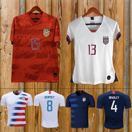 soccer jerseys united states Promo Codes - Gold cup 2019 America Home away USA Soccer Jersey 2019 copa america United States Soccer Shirt USA men Football SHIRT Uniform